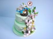 Tort Fantezie de primavara cu magnolii 1