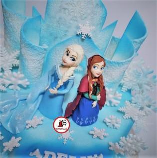 Tort Frozen_ Elsa si Ana