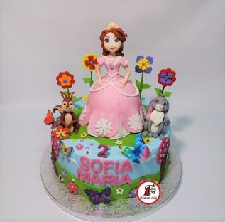 Tort Printesa Sofia_roz 3.